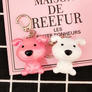 Promoção criativa do presente de plástico Pet Keychain do cão Bolsa Mochilas Pendant bonito Mini desenhos animados 3D Dog Elephant Urso Chaveiros DH0936 T03