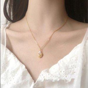 Delicated Water Drop Zircon Choker Necklace Women Simple Pendants Neckalces Korean Fashion Jewelry Fine Gifts