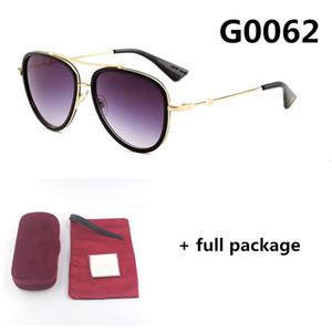 Neue 0062 Designer Sonnenbrille Mode Männer und Frauen Große Rahmen Kleine Biene Brillen 4 Farbe UV400 Goggle mit vollem Paket