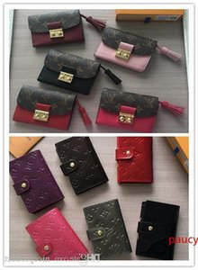 N60208 N61663 Short Vitton Women Wallet, Real And Patent Leather Square Chain Wallets Compact Purse Clutches Coins ,cards And Change Holders