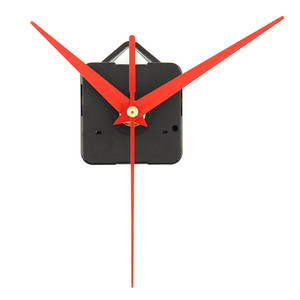 Mouvement de l'horloge à quartz pièces nouveau remplacement des outils essentiels de bricolage réglé avec les mains rouges calme silencieux