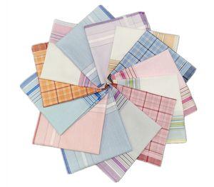 28 * 28 cm de algodón pequeño pañuelo refrescante suave absorbente de sudor de la mano de las señoras de la bufanda de los hombres de negocios pañuelo de época retro Pañuelos