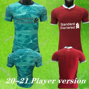 Player versione 2020 2021 casa lontano terzo pullover di calcio del pullover di calcio 20 21 Palloni Kit uomini camicia rossa bianca uniforme verde calcio nero