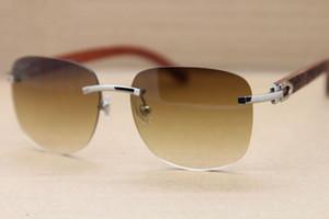 브랜드 디자이너 Wooden Sunglasses 브라운 스퀘어 선글라스 남성용 무테 선글래스 독점 파인 우드 조각 선 글래스 오리지널 박스