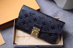 Le donne raccoglitore di alta qualità dal design di lusso Portafogli stile europeo e americano semplice Portafoglio Vintage Bag raccoglitori della borsa per le donne 62459