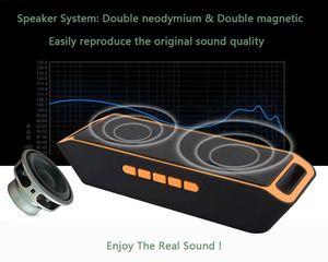 Tragbarer quadratischer Lautsprecher Spalte HD Stereo Bass Wireless Bluetooth-Lautsprecher mit Mikrofon Woofer FM Radio / USB MP3 Player
