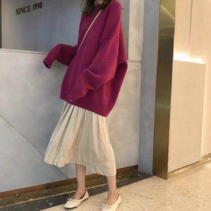 Ins super-fuoco Corea del 2019 autunno e in inverno nuova qualità alta skirt + femminile maglione selvaggio semplice pullover lavorato a maglia allentato