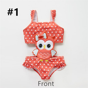 Kids Girls One Piece Animals Dots Printed Bathing Suit.Super soft,suitable for children's sensitive skin.