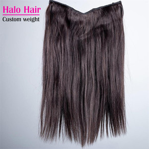 Brazilian Halo Flip In Human Hair Extensions Straight Natural Color 100g 120g 140g 160g 24 To 30 Inch Halo Virgin Hair