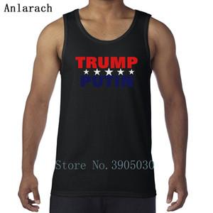 Цвет футболки шрифт trump Putin funky персонализированные смешные мужские футболки хлопок рукав футболки 100%