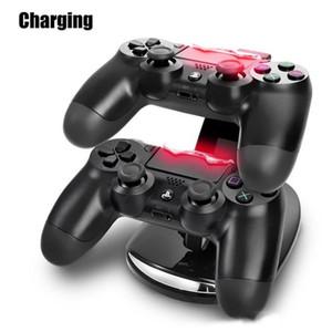 LED Dual Dock Dock Charger Mount USB Suporte De Carregamento Para PlayStation 4 PS4 Xbox One Gaming Controlador Sem Fio Com Caixa De Varejo Frete Grátis