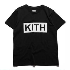 Hommes d'été T-shirts KITH lettres Mode imprimé manches courtes T-shirt cool ras du cou T-shirts Homme Femme Blanc Noir Taille Tendance Hauts Mode S-3XL