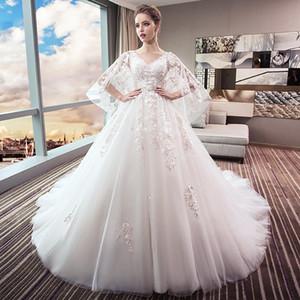 Robe de mariée nouvelle robe de mariée grande taille montrant mince queue princesse rêve femme enceinte grande taille graisse mm enceinte ventre