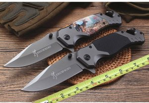"Wholesale Browning X78 folding knife 7.8 ""steel handle camping EDC pocket knife survival knife outdoor cutting tools color box free shippin"