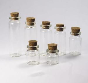 زجاجات 25ML 28X65X12.5MM البسيطة قوارير الزجاج الرغبات مع كورك سدادة إفراغ رسالة حفلات الزفاف الرغبات مجوهرات حزب الحسنات أنبوب