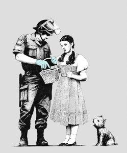 Banksy: Stop e Pesquisa Art Silk Print Poster 24x36inch (60x90cm)