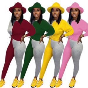 delle donne manica lunga pantaloni tuta pullover abbigliamento sportivo con cappuccio legging 2 pezzo collant outerwear set sudore tuta attrezzature della hot2766 molto caldo