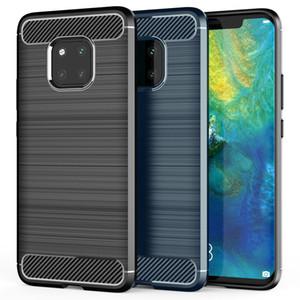 Carbon Fiber Brushed Texture Phone Case for Huawei P30 Pro lite P20 Pro Mate 20 Pro P9 Lite P8