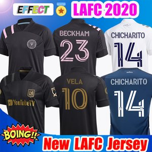 2019 T-shirt 2020 LAFC Carlos Vela maglie calcio 2021 di Los Angeles Miami FC Inter Beckham Nero LA Galaxy Chicharito Atlanta United Football