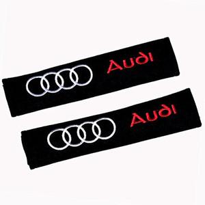 Audi Car Seat cinghia della spalla rilievi cinghia coperture dell'ammortizzatore 1 coppia
