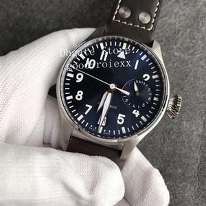 Limited Edition Automatic Movimento Cal.51111 Assista Marinha de New Men azul mostrador luminoso Esporte Mens Relógios ZF couro fábrica Eta pulso