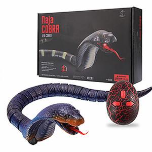 Neuheit Infrarot-Fernbedienung Schlange Naja Cobra Tier Trick Terrifying Unfug Spielzeug RC Snaker Safari Garten Requisiten Witz-Streich-Geschenk