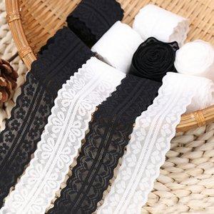 Largeur Stretch Lace Trim Noir Blanc Accessoires robe jupe décoration ruban matériel rideau Canapé art bricolage Tissu