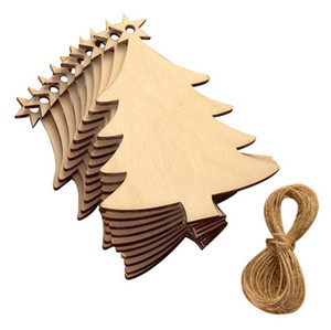 Natale Truciolo di legno albero di natale ornamenti Hanging ornamenti Partito Pendant Matrimonio Compleanno Consiglio Decoration Gioco Arts Crafts Natale