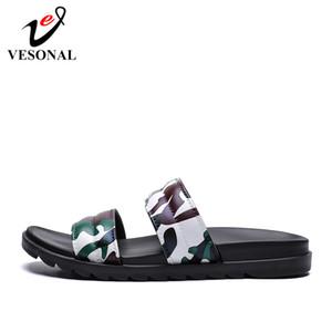 VESONAL 2020 новый летний дом тапочки Мужская обувь Slipers мужской камуфляж хип-хоп улица пляж крытый Slipers повседневная