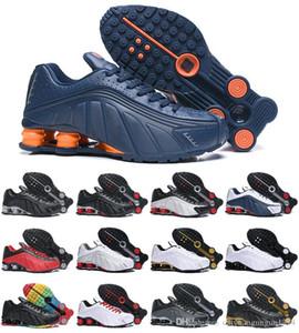 Nike Shox 2019 Orijinal TESLIM R4 Erkek Kadın için Spor ayakkabı Üçlü Siyah Beyaz Altın OZ NZ 301 Sneakers Erkek Eğitmenler Koşu ayakkabı boyutu 36-46