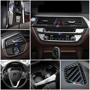 Car Styling interior de la puerta de audio del altavoz del cambio de marchas panel de la puerta del reposabrazos ajuste de la cubierta para el parachoques para BMW Serie 5 6GT G30 G32 G38 Accesorios para automóviles