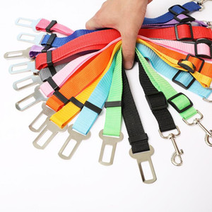 Dog Pet Car Safety Seat Belt Harness Restraint Lead Adjustable PP Leash Steel Nylon Dog Seatbelts Car Vehicle Seat Belt Travel Leashes LSK71