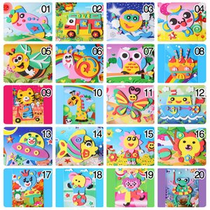 Happyxuan 20 Designs 3D Eva spam Craft Sticker DIY Puzzle Baby Montessori Learning Toys for Kids 3-6 years Y200414