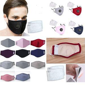 cloth Mask kids with valve reusable face mask Cartoon Face Masks anti dust cotton mascherine carbon Breather PM2.5Anti Dust filter face Mask