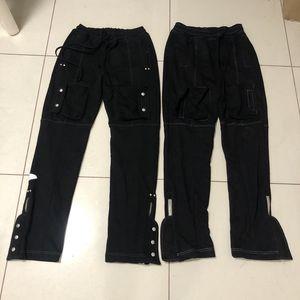 Pantalones para hombre Far.ARCHIVE High Street Multi-bolsillo lateral de pecho con cremallera Sweatpants a pantalones largos ocasionales Moda