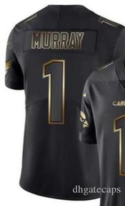 Vapor Limited Black Golden Джерси Мужские Аризона 1 Джерси рубашки Все команды американского футбола трикотажных изделий