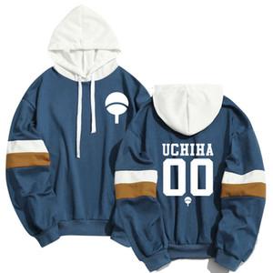 Primavera Estate Anime Naruto Hoodies degli uomini donne fredde Uchiha Hatake Uzumaki Clan Badge Streetwear Sudaderas Hoody Felpa T200102