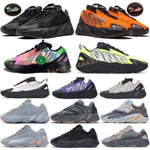 MNVN 700 Azael Kanye West Alvah Wave Runner Reflective Orange Green Triple Black 3M Material Men Women Running Shoes Sport Sneakers