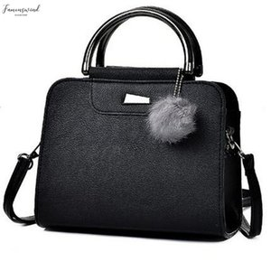 Ladies Handbags Women Bags Fur Ball Brand Designer Female Leather Zipper Shoulder Crossbody Bag For Women Sac Bolsa Feminina