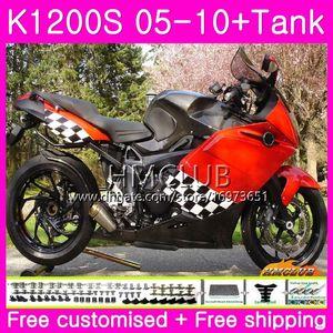 Body+Tank For BMW K1200 S K 1200 S K1200S 05 06 07 08 09 10 Kit 30HM.5 Red Black Good K-1200S K 1200S 2005 2006 2007 2008 2009 2010 Fairing