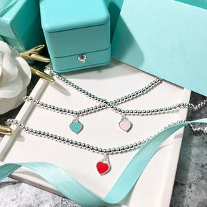 Queen Lotus 2020 neuf de haute qualité Marque Perles Pendentif Coeur Bracelet Femme charme pour cadeau en gros Avec Lettrage