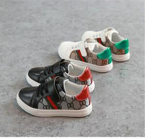 2019 nas sapatas Stock novas crianças de moda infantil estilo casual sapatos coreano costura Padrão Sapatos planos para bebés meninas COCO