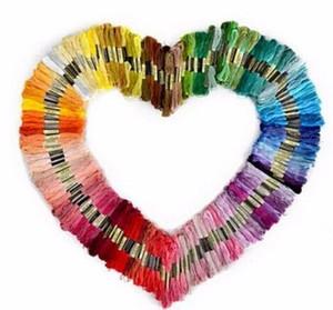50 unids bordado de color aleatorio bricolaje línea de seda hilos de rosca hilo similar hilos de rosca cruzada
