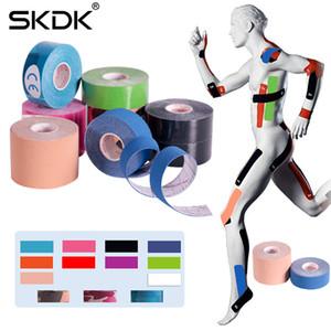 SKDK 2Size Cinesiologia fita impermeável respirável Athletic Tape Recovery Sports Tennis Academia joelho Acesso Relief