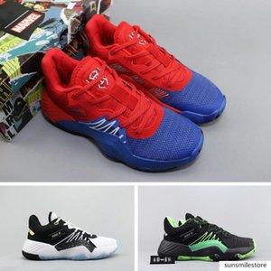 Вселенная Marvel Паук Мужская Черный Белый D.o.n. Выпуск # 1 Спорт Красный Синий Белый Зеленый Баскетбол обувь Дизайнерская обувь Прохладный Tranier кроссовки нэ