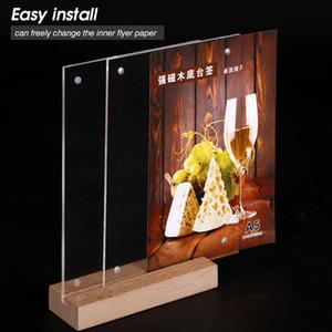 A4 Masa Ahşap Menü İşaret Tutucu Kurulu Counter Display Restoranlar Stores 8,5x11 inç İçin Fotoğraf Poster Çerçevesi Ekipman Standları