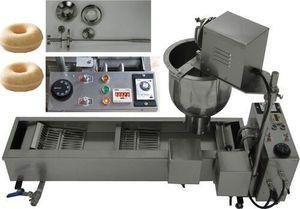 HOT SELLING التجاري الفولاذ المقاوم للصدأ دونات صانع الكهربائية 110V 220V التلقائي دونات دونات صانع آلة المقلاة