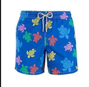Neue kurze Sommer-Schildkröte Printed Marken-Männer Strand Shorts, schnelltrocknende Badebekleidung Badeanzüge Männer Shorts Bottoms Board Bermuda Masculina