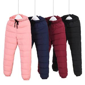 Bebek Boys Kız Ayarlanabilir Yüksek Bel Sıcak Çocuk Giyim Su geçirmez Çocuk Kayak Pantolon Pantolon Uzun Süre Kış Kar Pantolon