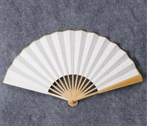Fan de papier pliant en Chine - Fibres de bambou Ribs Plaine à la main avec des arts traditionnels chinois bricolage Projet artisanal Ventilateurs de poche Ventilateur de fête de mariage